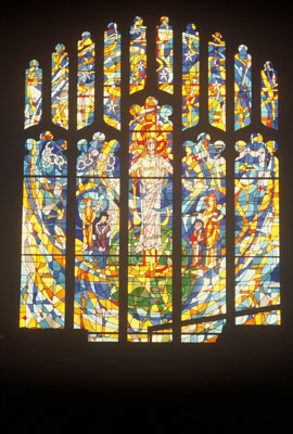 stained glass by C. Robert Markert